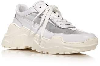 Joshua Sanders Women's Zenith Mixed Media Lace-Up Sneakers