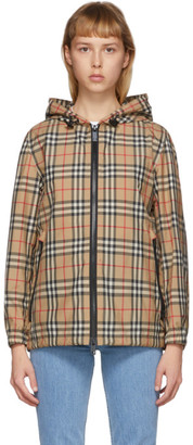 Burberry Beige Check Everton Jacket