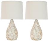 Safavieh Pair of Lauralie Ivory Shell Lamps