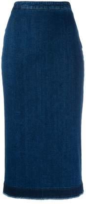 McQ denim pencil skirt