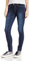 YMI Jeanswear Junior's Wannabettabutt Skinny Jean with Heavy Stitch