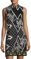 Nic+Zoe Shattered Floral-Print Knit Shift Dress, Multi