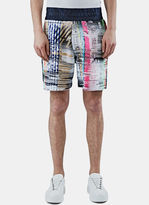 James Long Men's Multi-coloured Woven Boxer Shorts In Multicolour