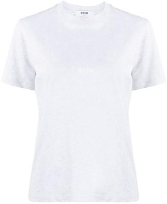 MSGM mini logo-print crew neck T-shirt
