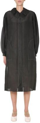 UMA WANG Aria Ruffle Collar Shirt Dress