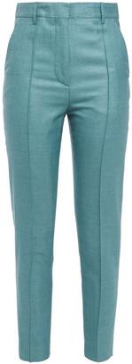 Ann Demeulemeester Silk And Wool-blend Slim-leg Pants
