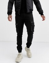 Bolongaro Trevor cargo cuffed trousers-Black