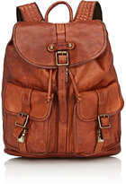 Campomaggi Men's Distressed Flap-Front Backpack