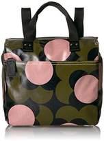 Orla Kiely Shiny Laminated Shadow Flower Print Small Backpack