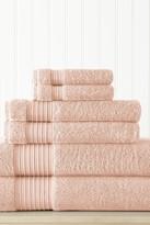Amrapur 6-Piece Turkish Cotton Towel Set - Blush