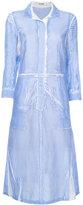 Jil Sander creased effect shirt dress - women - Silk/Cotton - 34