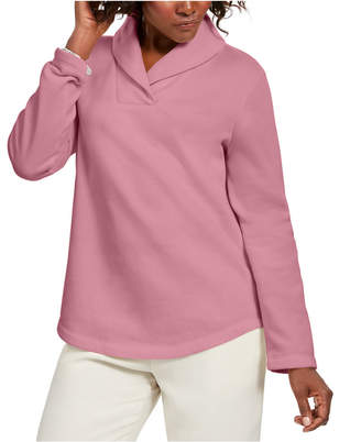 Karen Scott Petite Shawl-Collar Sweatshirt