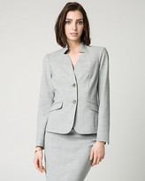 Le Château Crosshatch Stretch Viscose Blend Blazer