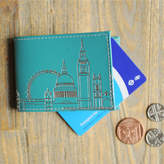 Undercover Peacock Green London Skyline Oyster Card Holder