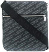 Emporio Armani logo printed messenger bag