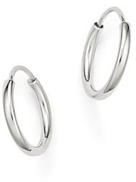 Bloomingdale's 14K White Gold Small Endless Hoop Earrings - 100% Exclusive