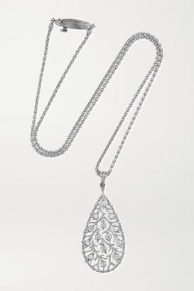 Buccellati Ramage 18-karat White Gold Diamond Necklace