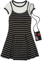 Knitworks Knit Works Sleeveless Black White Stripe Slip Dress