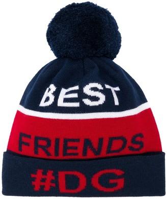 Dolce & Gabbana Kids Best Friends Knitted Hat