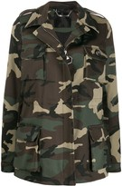 Philipp Plein camouflage pattern military jacket