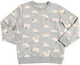 Stella McCartney Swans Printed Organic Cotton Sweatshirt