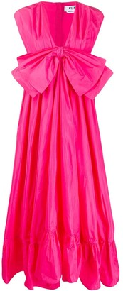MSGM Sleeveless Ruffled Bow Dress