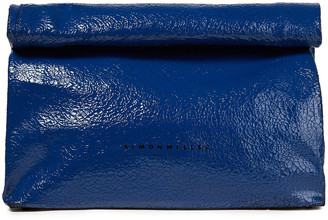 Simon Miller Lunchbag 30 Cracked Patent-leather Clutch
