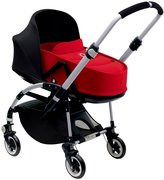 Bugaboo Bee3 Bassinet & Sun Canopy - Black - Red