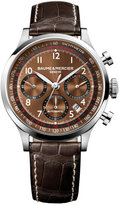 Baume & Mercier Men's Swiss Automatic Chronograph Capeland Dark Brown Alligator Leather Strap Watch 44mm M0A10083
