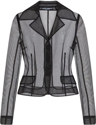 Dolce & Gabbana Organza Single-Breasted Jacket