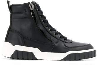 Diesel Hi-top leather sneakers