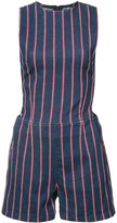 3x1 striped playsuit - women - Cotton/Spandex/Elastane - M