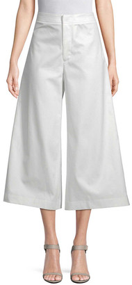 story. White Cropped Flared Pant