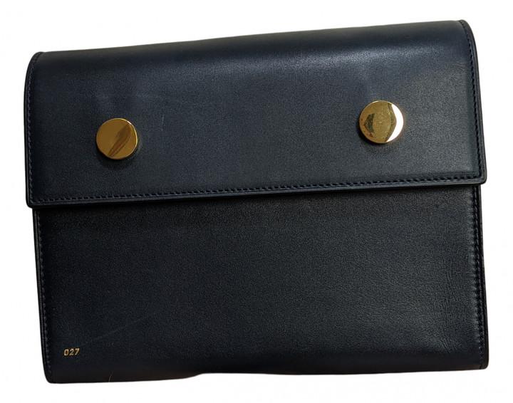 rsvp Navy Leather Handbags