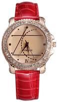 Aplustore 2014 new design Korean fashion diamond women's quartz watches - red