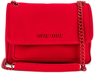 Miu Miu Leather Crossbody Bag in Rosso | FWRD