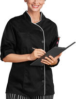 White Swan 5 Star Chef Apparel Womens Long Sleeve Chef Coat-Plus
