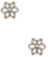 Mizuki 14K Yellow Gold & 0.22 Total Ct. Diamond Flower Crest Stud Earrings