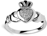 Golden Moon Women's Rings Silver - Cubic Zirconia & Sterling Silver Claddagh Ring