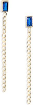 Argentovivo Linear Crystal Earrings