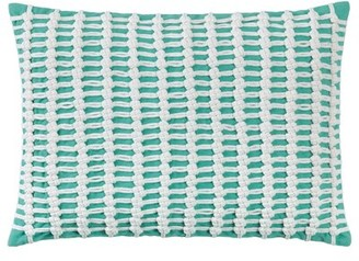 Company C CompanyC Macrame Cotton Lumbar Pillow CompanyC Color: Aqua