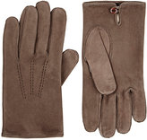 Barneys New York Men's Suede Gloves-TAN