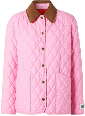 Burberry Pink Quilted Jacket