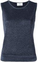 Allude metallic effect knit top - women - Nylon/Polyester - L