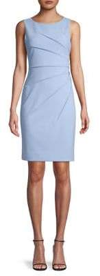 Calvin Klein Ruched Sleeveless Sheath Dress