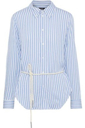 Bassike Cutout Button-detailed Striped Twill Shirt