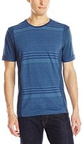 Calvin Klein Jeans Men's Heather Stripped Crew Tee
