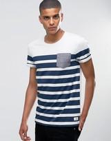Esprit Breton Stripe T-shirt With Contrast Pocket