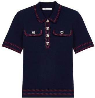 Maje Misla Short-Sleeve Cotton Sweater