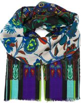 Etro printed scarf - women - Silk/Wool - One Size